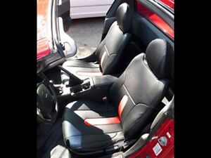 Honda Del Sol 1993 1997 Black Red S Leather Custom Fit Front Seat Covers