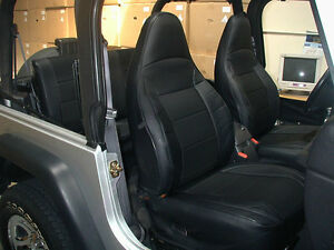 Jeep Wrangler Tj Sahara 1997 2002 Black Iggee S leather Seat Cover