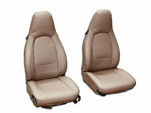 Porsche 911 928 944 968 Beige S Leather Custom Made Fit Front Seat Cover