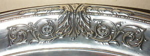 Beautiful Antique Meriden Britannia Sterling Silver Large 10 Fruit Bowl Wd 9