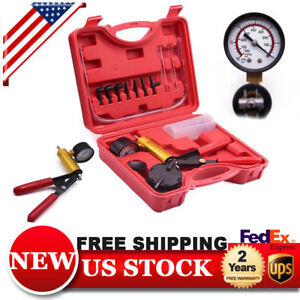 Car Manual Vacuum Pump Brake Bleeder Hand Held Pistol Pump Tester Kit Motorbike