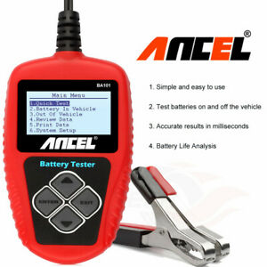 Ancel Ba101 Automotive Load Battery Tester Digital Analyzer Bad Cell Test Tools