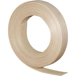 Wood Veneer Edgebanding Edge Banding Tape Pre glued 7 8 X 25 Birch