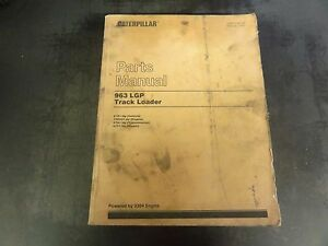 Caterpillar Cat 963 Lgp Track Loader Parts Manual 21z1 Hebp1367 06