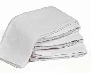 100 New White Glass Cleaning Shop Towel Huck Towels Janitorial Lint Free Large