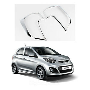 New Chrome Rear Tail Light Lamp Cover Molding K577 For Kia Picanto 2011 2012