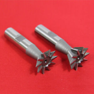 2 Pc 1 X 45 1 X 60 Dovetail Cutter Set High Speed Steel Hss Milling