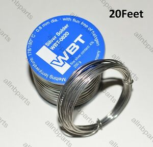 20 Feet Wbt 4 Silver Solder Wire Wbt 0820 High Grade 0 8mm Diameter Germany