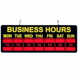 Mystiglo In light Led Business Hours Sign New