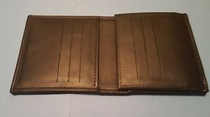 Boston Leather Tri fold Badge Wallet
