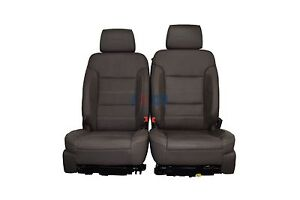 2015 2016 Yukon Denali Front Row Bucket Seats Cocoa Dark Atmosphere Leather