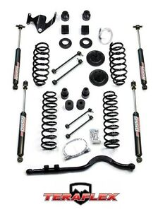 Teraflex 4 Lift Kit Trackbar 9550 Shocks For 07 18 Jeep Wrangler Jk 4 Door