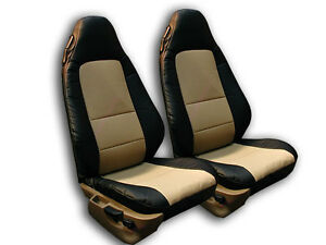 Bmw Z3 1996 2002 Black Beige Iggee S Leather Custom Fit Front Seat Cover