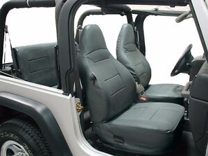 Jeep Wrangler Tj Sahara 1997 2002 Charcoal Iggee S leather Seat Cover