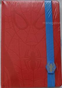 Spiderman Skyline Embossed Red Hardcover Writing Journal A5 Notebook Dc Licensed