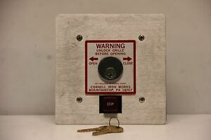 Cornell Open Close Key Switch With Stop Button