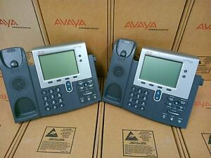 Lot Of 2 Cisco Ip Phone 7942 7942g Cp 7942g Series Base Only