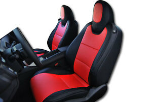 Chevy Camaro 2010 2015 Black Red Iggee S Leather Custom Fit Front Seat Cover