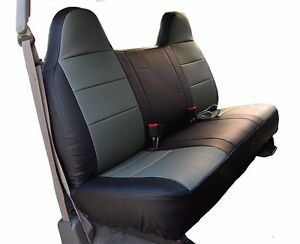 Ford F 150 Black charcoal Iggee S leather Custom Fit Bench Front Seat Cover