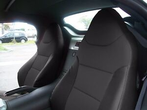 Pontiac Solstice 2006 2009 Black S leather Custom Made Fit Front Seat Cover