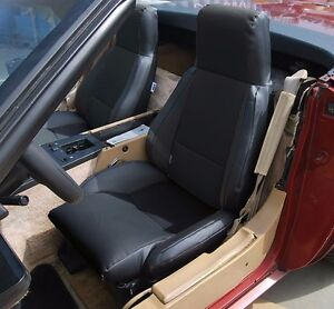 Chevy Corvette C4 Type3 1984 1993 Black S leather Custom Fit Seat Cover