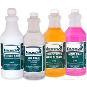Interior Detail Kit Cleans Vinyl Glass Carpets New Car Scent Free Shipping