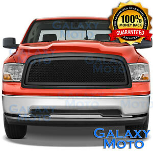 09 12 Dodge Ram Truck 1500 Front Hood Matte Black Mesh Grille Replacement Shell
