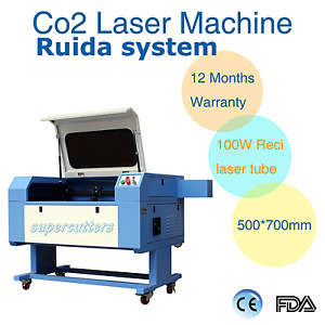 Reci 100w Co2 Laser Engraving Cutting Machine 700 X 500mm Ruida System Chiller