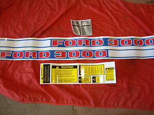 3000 Ford Tractor Diesel Complete Decal Set 1968 1975