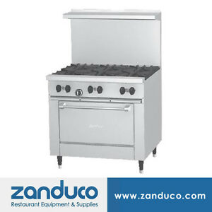 Garland Sunfire X Series 36 Restaurant Range With 6 Burners And 26 Oven