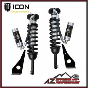 Icon 2 5 Extended Travel Rr Front Coilover Shock Kit Fits 05 15 Toyota Tacoma
