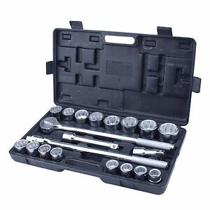 Steel Core 21pc 3 4in Drive Heavy Duty Jumbo Socket Set With Case