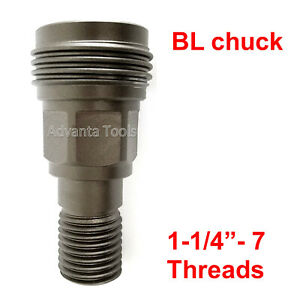 Core Drill Adapter Convert Hilti Dd bl Chuck To 1 1 4 7 Male Threads bs