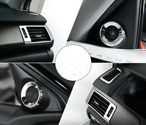 7pcs Car Air Vent Door Speaker Chrome For Honda Accord 2013 2014 2015 2016 2017