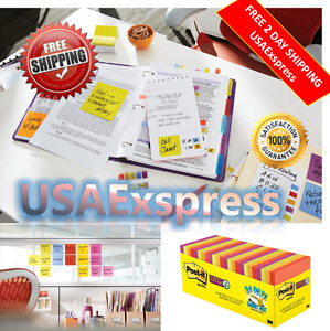 Sticky Notes Pad Lot 1680 Sheets 3m Post it 3x3 24 Pads Office Desk Color No Tax