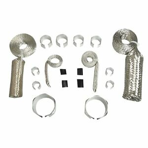 Stainless Steel Braided Hose Silver Engine Dress Up Kit Radiator Vacuum Fuel Oil
