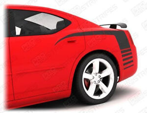 Dodge Charger 2006 2010 Superbee Rear Quarter Side Stripes Decals Choose Color