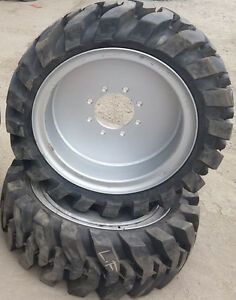 2 Tires With Wheels Solid 33x12 20 12 16 5 Skid steer Loader Tire 331220
