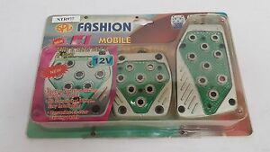 Sport Pedal Pads 3pc Silver green Lighted Ntr977