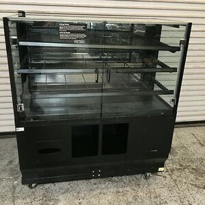 48 Dry Glass Baked Goods Bakery Display Case On Wheels Ffr dsi 6708 Commercial