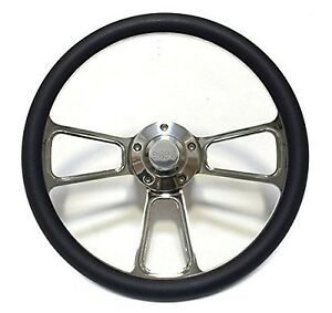 1967 1968 Chevelle 14 Billet Black Muscle Style Wheel Chevy Ss Horn