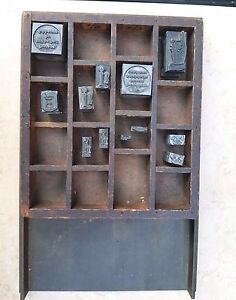 Printer s Galley Tray And Blocks Pointing Hand Telephone Allied Nashua Nh