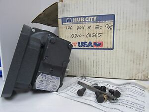 Hub City Worm Gear Speed Reducer Model 186 Ratio 20 1 Style R
