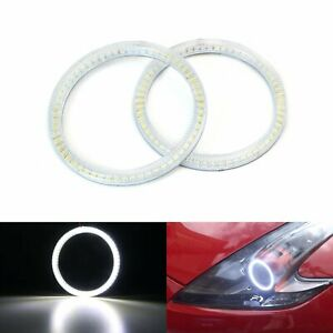 6000k Xenon White Smd Led Angel Eyes Halo Rings For 09 18 Nissan 370z Fairlady