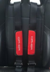 Cipher Auto 2 Racing Harness seat Belt Pads pair 12 Fiat 500 Abarth 500t