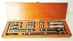 Lufkin 1 10 End Measures Set Lufkin 0 1 Jig Bore Micrometers Usa