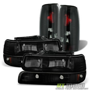 Black Smoke 1999 2002 Chevy Silverado 1500 2500hd 3500 Headlights tail Lamps Set