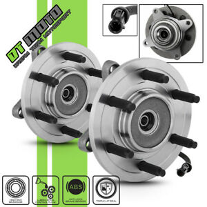 Pair 2 6lug Front Wheel Hub Bearing Assembly For 2004 2005 Ford F150 4wd W Abs