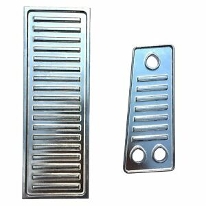 C5 Corvette Aircraft Quality Highly Polished Aluminum Gas Dead Pedals 97 04