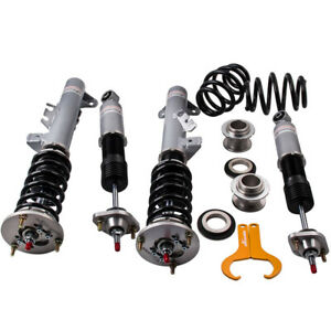 Racing Coilovers 24 Step Adjustable Suspension For Bmw 3 Series E36 Grey